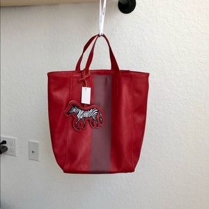 Saks Fifth Avenue Leather Tote Bag